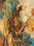 Fine Art - Painting, American:Contemporary   (1950 to present)  , Z. CHARLOTTE SHERMAN (American, b. 1924). Persephone, 1958.Oil on panel. 39-1/2 x 29-3/4 inches (100.3 x 75.6 cm). Sign...