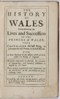 Books:Non-fiction, Caradoc of Lhancarvan. History of Wales. London: M. Clark,1697. Octavo. Full brown calf. Scratches to boards. Rubbi...