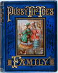 Books:Literature Pre-1900, Mrs. D.P. Sanford. Pussy Tip-Toes' Family. New York: E.P.Dutton, 1875. Publisher's pictorial binding, with extensiv...