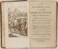 Books:Literature Pre-1900, Miguel Cervantes. Don Quixote. London: Tonson, Draper andDodsley, 1749. Second edition. Translated by Charles Jarvi...