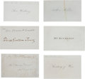 Autographs:Statesmen, Early 19th Century Calling Cards (23)-11 Signed,... (Total: 23Items)