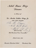 Autographs:Celebrities, Martin Luther King Jr. Inscribed Program Signed.... (Total: 2Items)