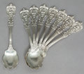 Silver Flatware, American:Reed & Barton, EIGHT REED & BARTON FRANCIS I PATTERN SILVER ICE CREAMSPOONS. Reed & Barton, Taunton, Massachusetts, designed 1...(Total: 8 Items)