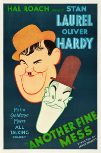 "Another Fine Mess (MGM, 1930). One Sheet (27"" X 41"")"