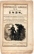 Books:Americana & American History, [Almanac]. David Young. The Temperance Almanac, Number Five,1838. Albany: Packard and Van Benthuysen. 1838. Oct...