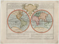 Books:Maps & Atlases, [Map Showing California as an Island]. Jacques Chiquet. Le Globe Terrestre... [N. p., early eighteenth century]....