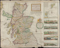 Books:Maps & Atlases, [Hand-colored Map of Scotland]. Herman Moll. The North Part of Great Britain Called Scotland. London, 1714....