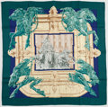 "Luxury Accessories:Accessories, Hermes Green, Blue & Yellow ""La Fontaine de Bartholdi,"" by Vladimir Rybaltchenko Silk Scarf. ..."