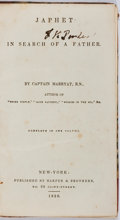 Books:Literature Pre-1900, Captain Marryat, R.N. Japhet in Search of a Father. NewYork: Harper, 1836. Complete in one octavo volume. 310 pages...