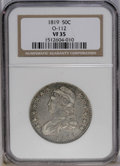 Bust Half Dollars: , 1819 50C VF35 NGC. O-112. NGC Census: (17/232). PCGS Population(4/183). Mintage: 2,208,000. Numismedia Wsl. Price: $96. (#...