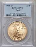 Modern Bullion Coins, 2008-W $50 One-Ounce Gold Eagle MS70 PCGS. PCGS Population (703).NGC Census: (0). Numismedia Wsl. Price for problem free ...