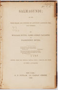 Books:Literature Pre-1900, William and Washington Irving, James Kirke Paulding.Salmagundi. Putnam, 1860. Reprint. Quarter brown moroccoover m...