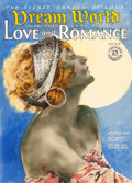 Pin-up and Glamour Art, AMERICAN ARTIST (20th Century). Dream World Into the Land ofLove and Romance magazine cover, circa July 1925-30. Mixed ...