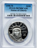 Modern Bullion Coins, 1998-W P$100 One-Ounce Platinum Statue of Liberty PR70 Deep CameoPCGS. PCGS Population (137). NGC Census: (401). Mintage: ...