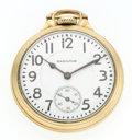 Timepieces:Pocket (post 1900), Hamilton 21 Jewel 992 Open Face Pocket Watch. ...