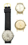 Timepieces:Wristwatch, A Lot Of Three Gent's Wristwatches. ... (Total: 3 Items)