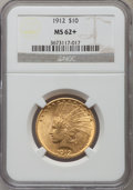 Indian Eagles: , 1912 $10 MS62+ NGC. NGC Census: (2575/1307). PCGS Population(2106/1216). Mintage: 405,083. Numismedia Wsl. Price for probl...