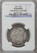 Bust Half Dollars, 1819 50C -- Improperly Cleaned -- NGC Details. XF. NGC Census:(31/306). PCGS Population (59/329). Mintage: 2,208,000. Numi...