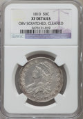 Bust Half Dollars, 1810 50C -- Obverse Scratched, Cleaned -- NGC Details. XF. NGCCensus: (47/384). PCGS Population (107/399). Mintage: 1,276,...
