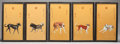 Asian:Chinese, A SET OF TEN CHINESE PORCELAIN PLAQUES OF DOGS, AFTER GIUSEPPECASTIGLIONE. Second half 20th century. Marks: (chop marks). 3...(Total: 10 Items)