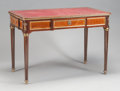 Furniture : French, A LOUIS XVI-STYLE MAHOGANY, FRUITWOOD, GILT BRONZE AND LEATHERINSET LADIES WRITING DESK . Circa 1900. 29-3/4 x 43 x 24-1/2 ...
