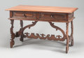 Furniture : Continental, AN ITALIAN RENAISSANCE-STYLE WALNUT TRESTLE TABLE. 18th century.31-1/4 x 51 x 29 inches (79.4 x 129.5 x 73.7 cm). ...