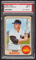 Baseball Cards:Singles (1960-1969), 1968 Topps Mickey Mantle #280 PSA NM 7. ...