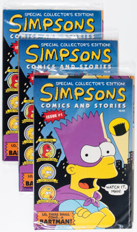 Simpsons Comics and Stories #1 Short Box Group (Welsh Publishing , 1993) Condition: NM-