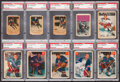 Hockey Cards:Lots, 1951 - 1954 Parkhurst Hockey PSA Graded Collection (10). ...