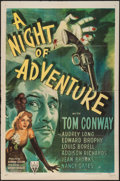 "Movie Posters:Mystery, A Night of Adventure (RKO, 1944). One Sheet (27"" X 41""). Mystery....."
