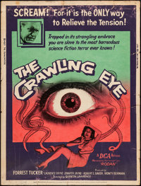 """The Crawling Eye (DCA, 1958). Poster (30"""" X 40""""). Science Fiction"""