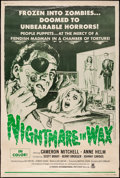 """Movie Posters:Horror, Nightmare in Wax & Other Lot (Crown International, 1969).Poster (40"""" X 60"""") & Banner (46.5"""" X 74.5"""") Regular &Advance. Hor... (Total: 2 Items)"""