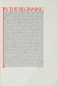 Books:Religion & Theology, [Doves Press]. [Bible in English]. The English Bible.Containing the Old Testament & the New translated out of theo... (Total: 5 Items)