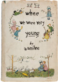 Books:Children's Books, A.A. Milne. When We Were Very Young. [New York]: E. P.Dutton & Co., [1924]. First American edition, one of 100 co...