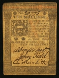 Colonial Notes:Pennsylvania, Pennsylvania October 1, 1773 10s Very Fine-Extremely Fine.. ...