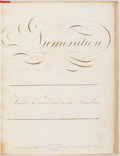 Books:Reference & Bibliography, Numeration: Teaches to Read and Write Numbers. London: JohnChappell, 1820. Octavo. Modern binding with original paper b...