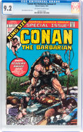 Bronze Age (1970-1979):Miscellaneous, Conan the Barbarian Annual #1 (Marvel, 1973) CGC NM- 9.2 Off-whiteto white pages....