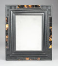 Paintings, A FLEMISH BAROQUE-STYLE EBONIZED AND HORN INLAID MIRROR . 20th century. 48 x 14 x 14 inches (121.9 x 35.6 x 35.6 cm). ...