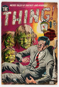 Golden Age (1938-1955):Horror, The Thing! #1 (Charlton, 1952) Condition: GD/VG....