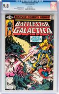 Modern Age (1980-Present):Science Fiction, Battlestar Galactica #15 (Marvel, 1980) CGC NM/MT 9.8 Whitepages....