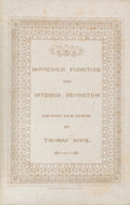 Books:Art & Architecture, [Furniture and Design]. Thomas Hope. Household Furniture and Interior Decoration... London: Printed by T. Bensley fo...