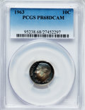 Proof Roosevelt Dimes: , 1963 10C PR68 Deep Cameo PCGS. PCGS Population (486/194). NGCCensus: (508/144). Numismedia Wsl. Price for problem free NG...