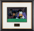 "Animation Art:Production Cel, Batman: the Animated Series ""Joker's Wild"" Production Celand Background Animation Art (Warner Brothers, 1992)...."