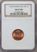 Lincoln Cents: , 1995 1C Doubled Die Obverse MS67 Red NGC. NGC Census: (9774/6251).PCGS Population (2796/2663). Numismedia Wsl. Price for ...