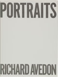 """Books:Photography, Richard Avedon. Portraits. Farrar, Strauss and Giroux, 1976. First edition. Inscribed """"For / Dale / with warme..."""