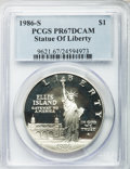 Modern Issues: , 1986-S $1 Statue of Liberty Silver Dollar PR67 Deep Cameo PCGS. PCGS Population (203/10135). NGC Census: (61/11906). Mintag... (Total: 10 coins)