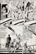 "Original Comic Art:Panel Pages, Neal Adams and Bernie Wrightson Green Lantern #84 ""Peril inPlastic"" Page 14 Original Art (DC, 1971)...."