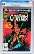 Modern Age (1980-Present):Miscellaneous, Conan the Barbarian Annual #6 (Marvel, 1981) CGC NM/MT 9.8 White pages....