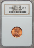 Lincoln Cents: , 1995 1C Doubled Die Obverse MS68 Red NGC. NGC Census: (6209/38).PCGS Population (2662/1). Numismedia Wsl. Price for probl...