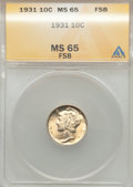 1931 10C MS65 Full Bands ANACS. NGC Census: (55/13). PCGS Population (103/79). Mintage: 3,150,000. Numismedia Wsl. Price...
